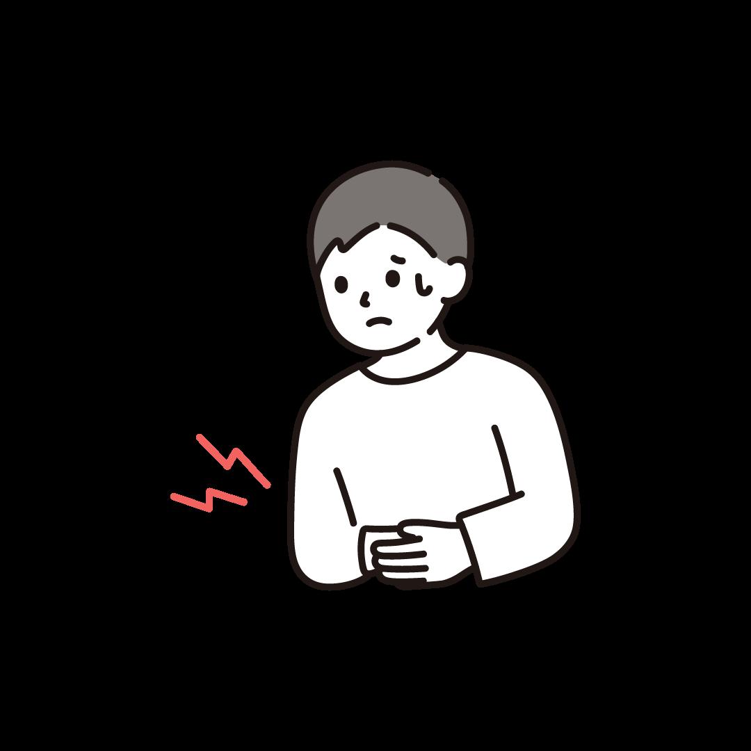 腹痛(男性)のイラスト