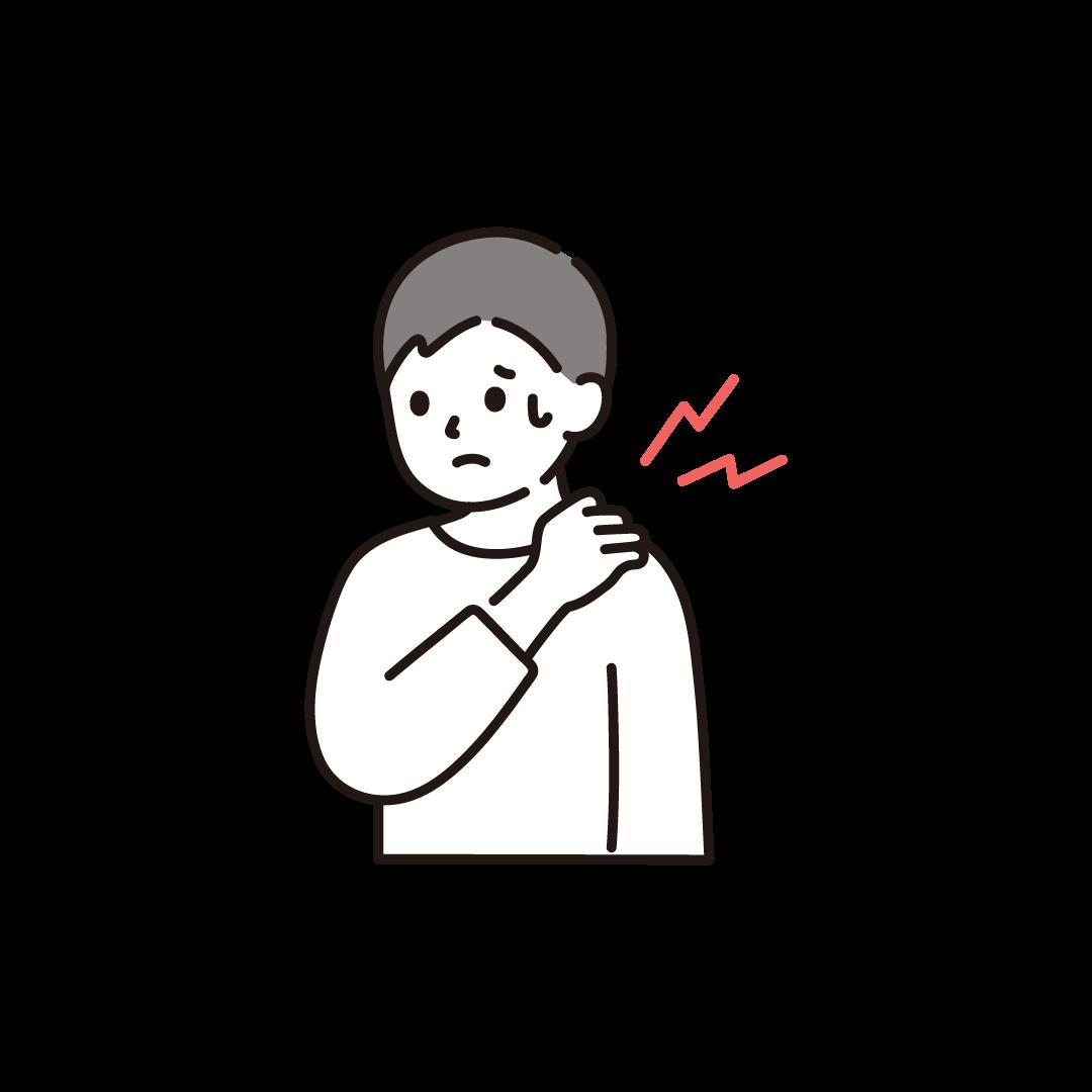 肩こりの男性のイラスト