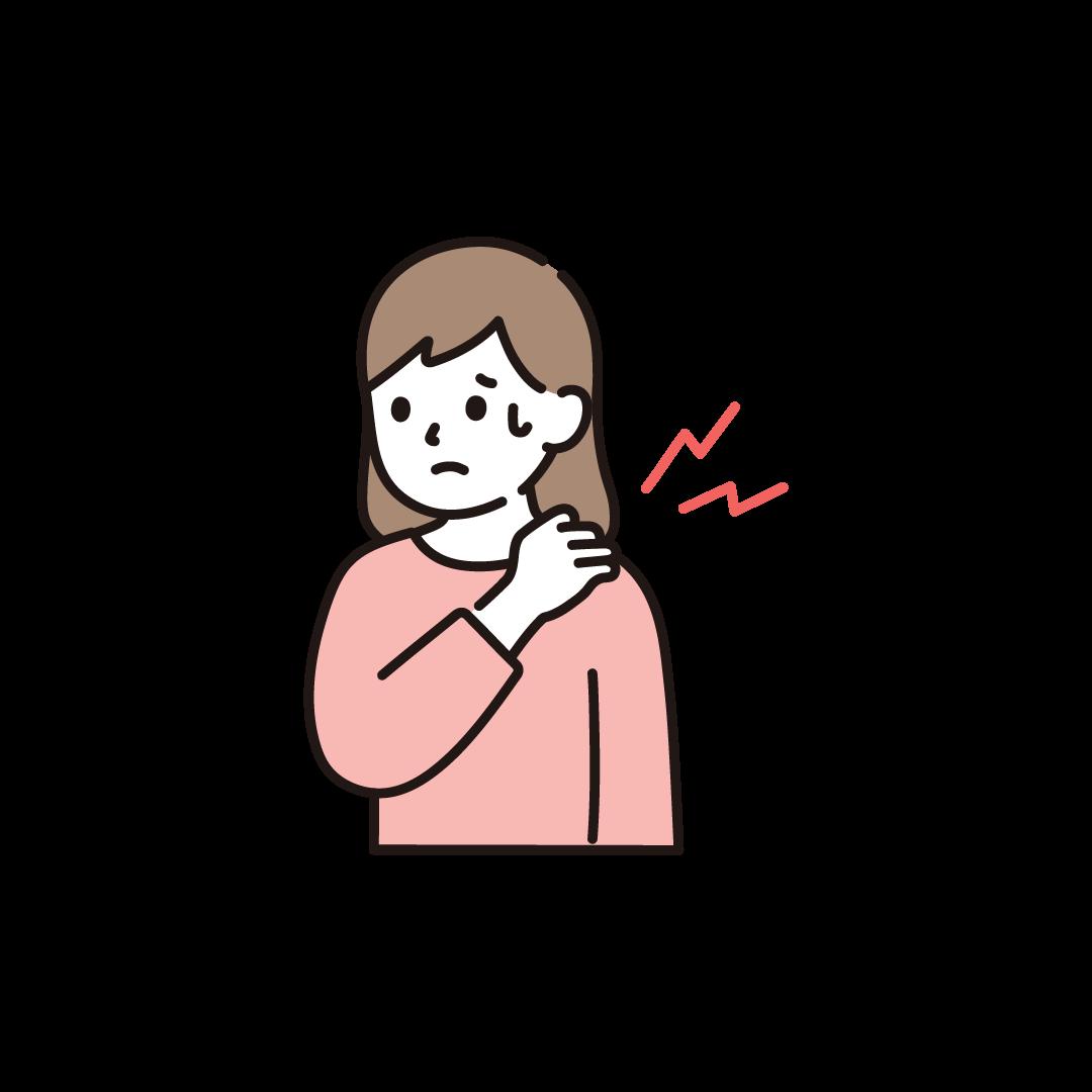 肩こりの女性のイラスト