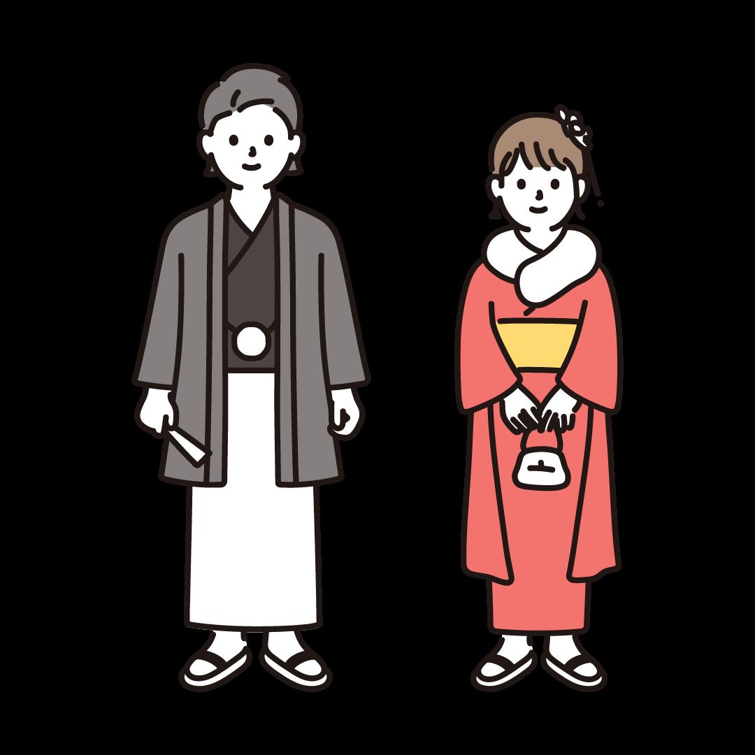 成人式(成人男女)のイラスト